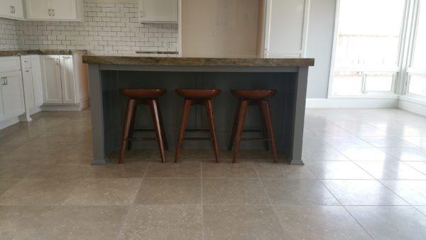 Satin Finish Limestone Floor