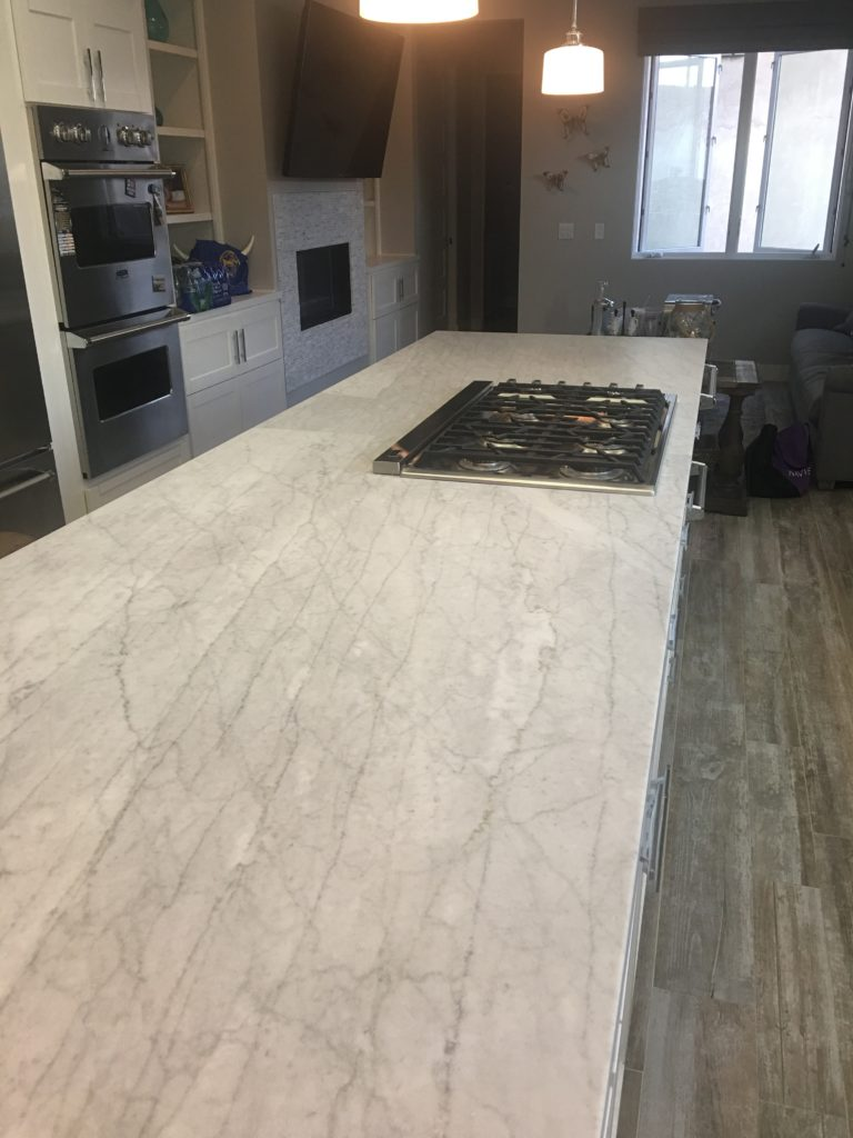 Matte Honed Marble Counters
