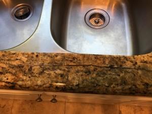 Granite Crack Before Repair